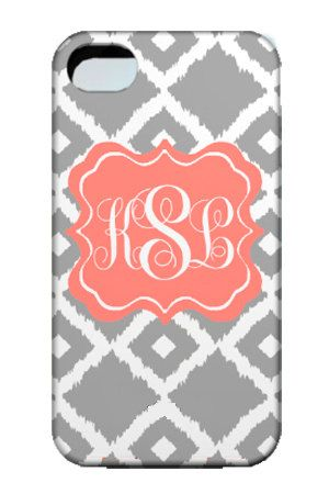 Personalized Monogram Cell Phone Case- iphone 4, 3G, Ipod, blackberry, samsung, droid, HTC vivid