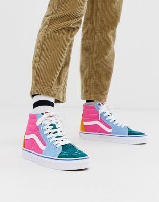 2b8e363e18c Vans SK8-Hi colour block sneakers in 2019   Shoes   Vans sneakers ...