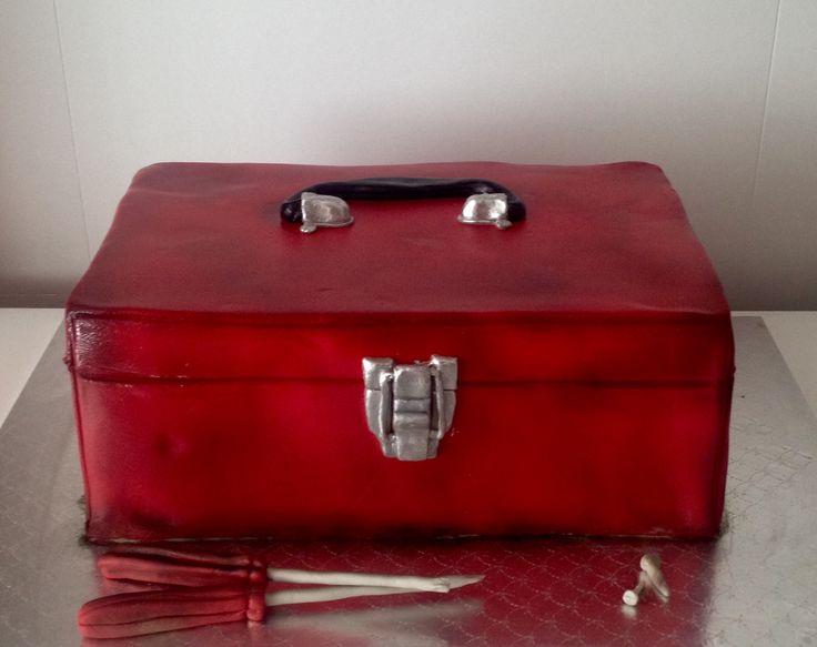 Tool box cake | red |Male birthday cakes