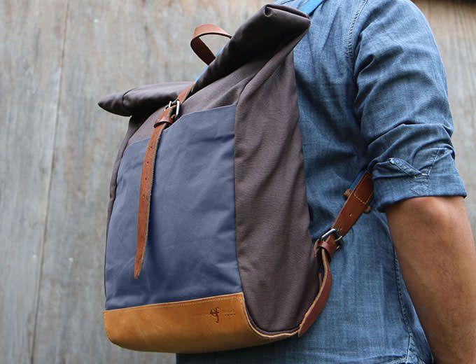 Rollup Backpack – BLU - Officine Federali