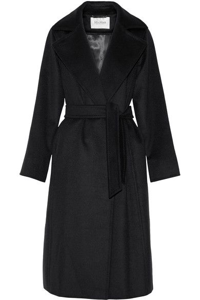 Max Mara - Belted Camel Hair Coat - Midnight blue - UK16