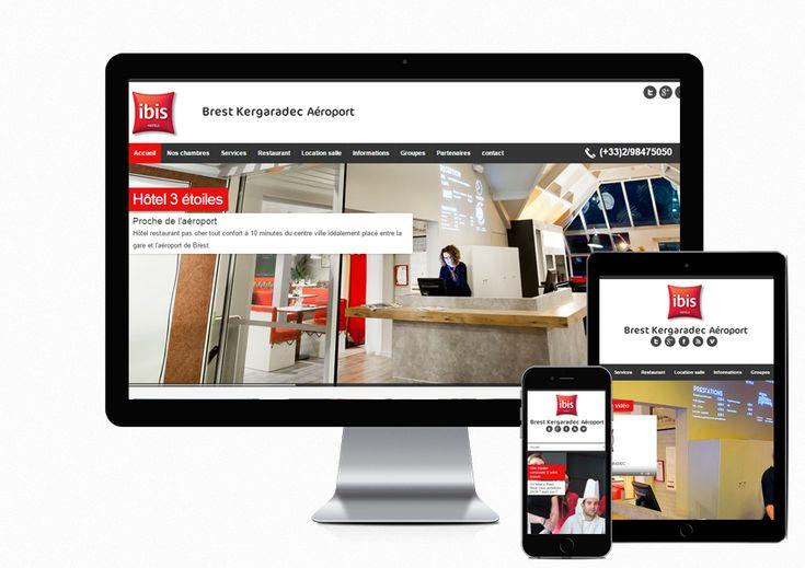 Création du site internet de l'hôtel Ibis #Brest Kergaradec aéroport http://www.air-media29.com/hotel-ibis-brest-aeroport.html