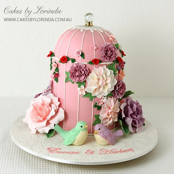 Reference: 0965 Birdcage cake for a high tea/garden party themed kitchen tea. Provides approx. 60 finger serves  Image 21 of 57