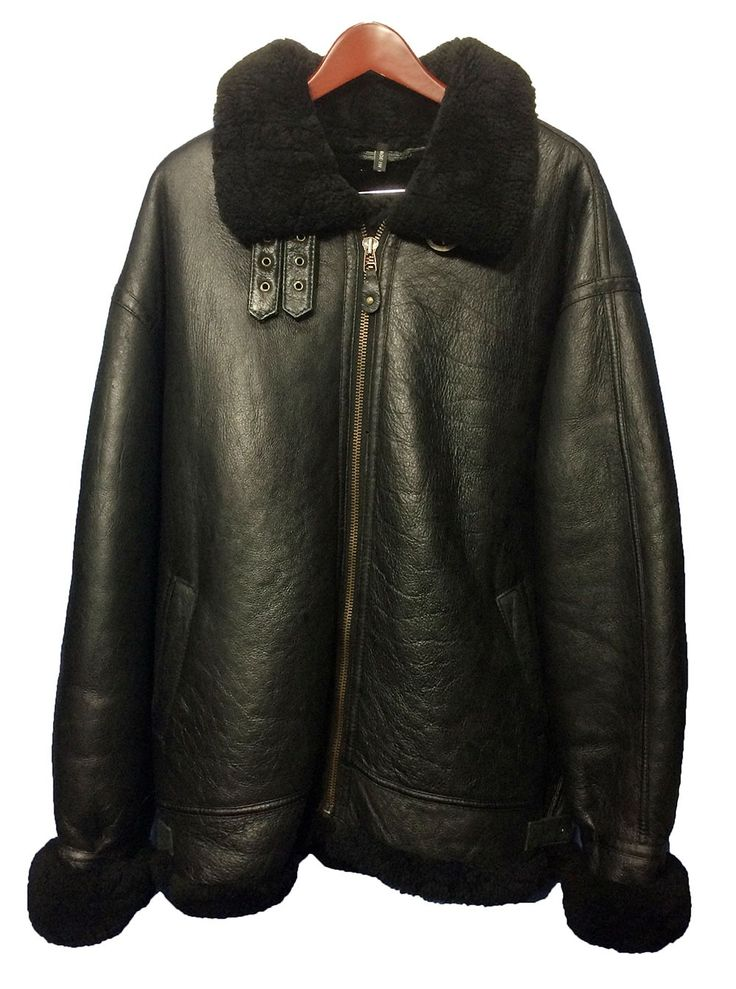 B-3 BOMBER BLACK SHEARLING LEATHER FLIGHT JACKET MEN'S SIZE 4 XL  $299.99 #Leather #Bomber #Jacket #BomberJacket #A2jacket #B3jacket #B2jacket #AviatorJacket At Eagle Ages We Love Bomber Jackets. You can find a great choice of Vintage & Second hands Bomber Jackets in our store. eagleages.com/...