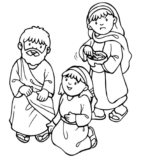 Mary Martha And Lazarus Coloring Pages