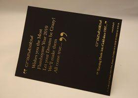 Invitation dorure à chaud or sur papier plike noir Création by Crazybaby