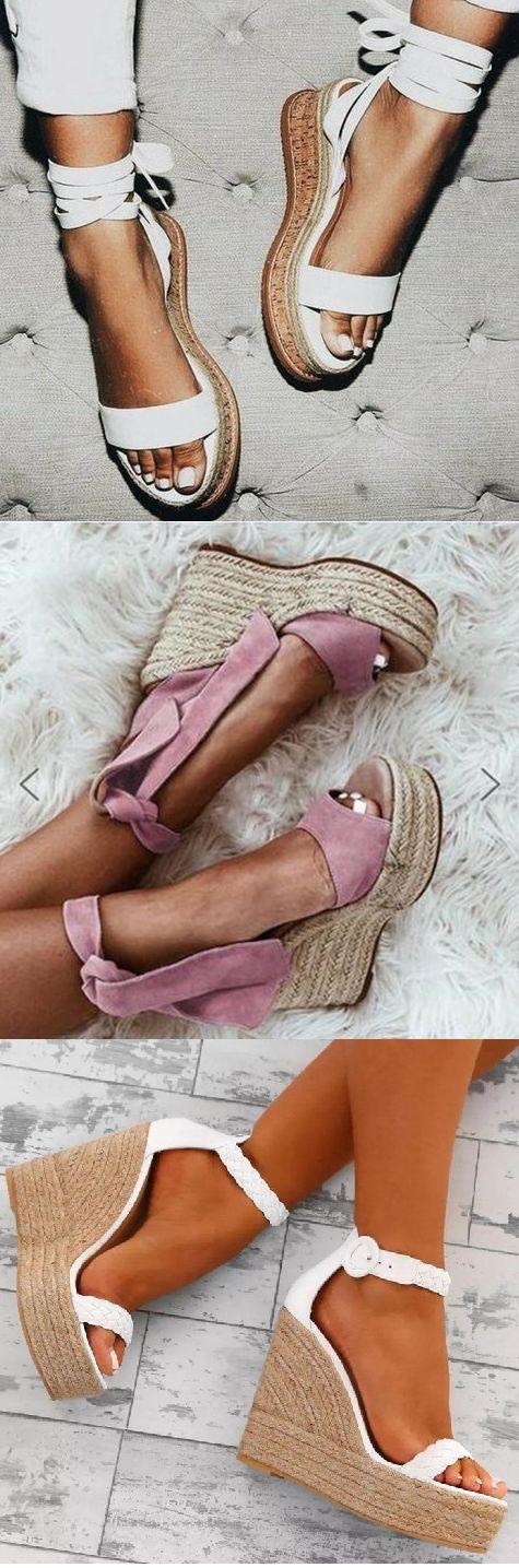Heute shoppen >> 2019 Neue Sandalen mit heißen Keilen.
