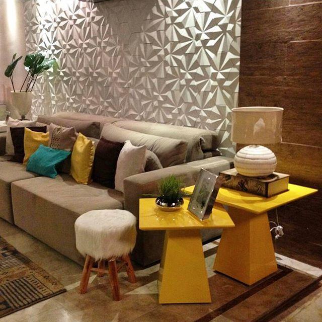Repost de @pollyanarangel_arq utilizando Revestimento Solis em seu projeto, amamos o resultado #revestimento #tile #covering #Picoftheday #interiordesign #instadecor #interiores #design #decor #instadesign #walldecor #maski #concrete #handmade #tiles