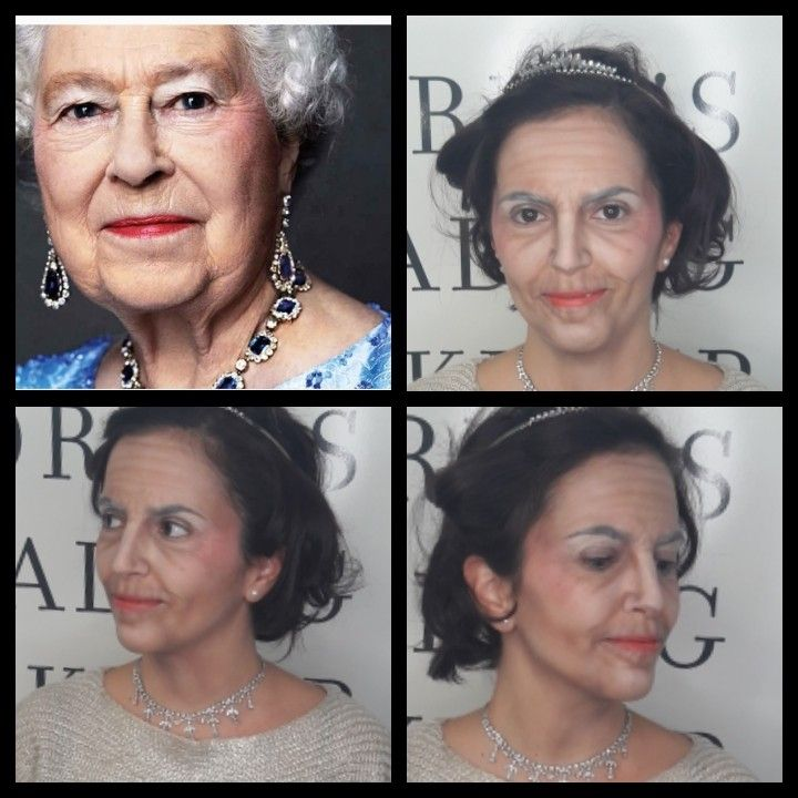 How to be older with make up...inspired by queen Elizabeth