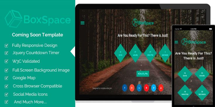 BoxSpace is a brilliant html coming soon template with a countdown - weekend scheduled template
