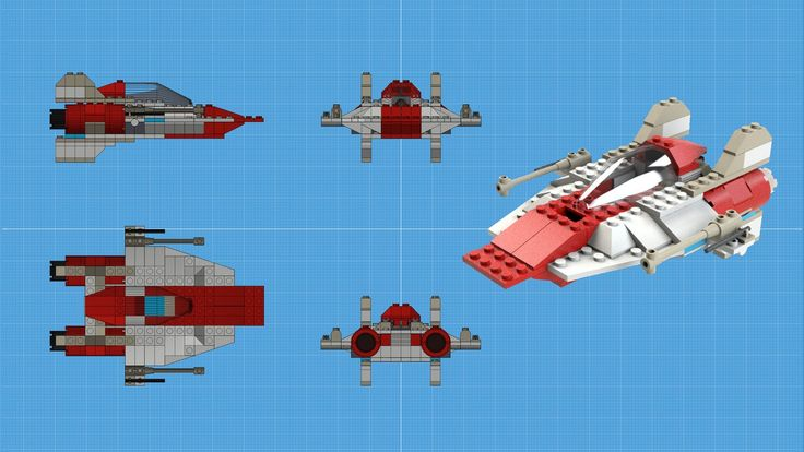 42k polygons.  This was a fun one to do because I kitbashed a bunch of parts from the X-Wing fighter.  It only took me one night to complete.