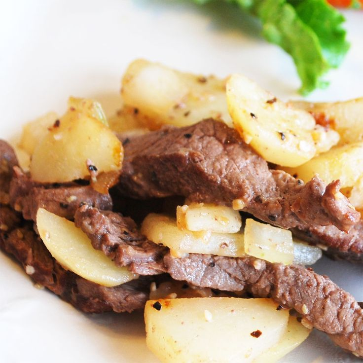 Steak with potatoes | Bistec con papas | Recetas Mexicanas