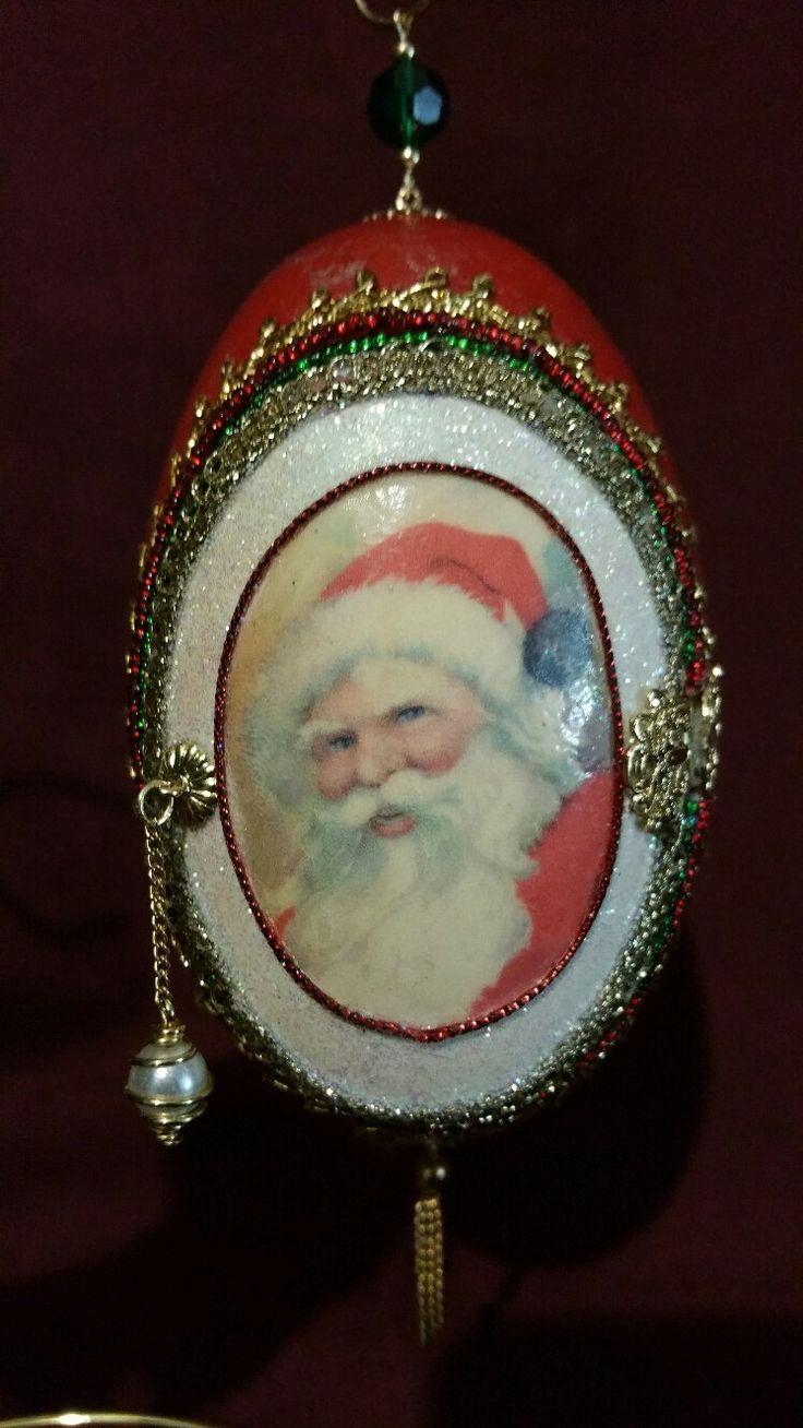 Cookies and Milk for Santa Jumbo Goose Egg with Door by SpiritsinShellsShop on Etsy
