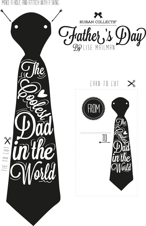 Printable Father's Day Card (& printable paper tie)
