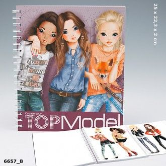 Top Model by Depesche Colouring Book