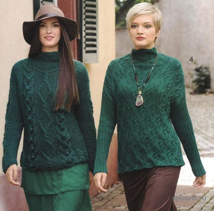 свитер женский с косами