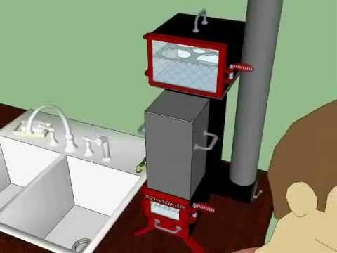 Marine Rocket stove cooker, water heater oven.