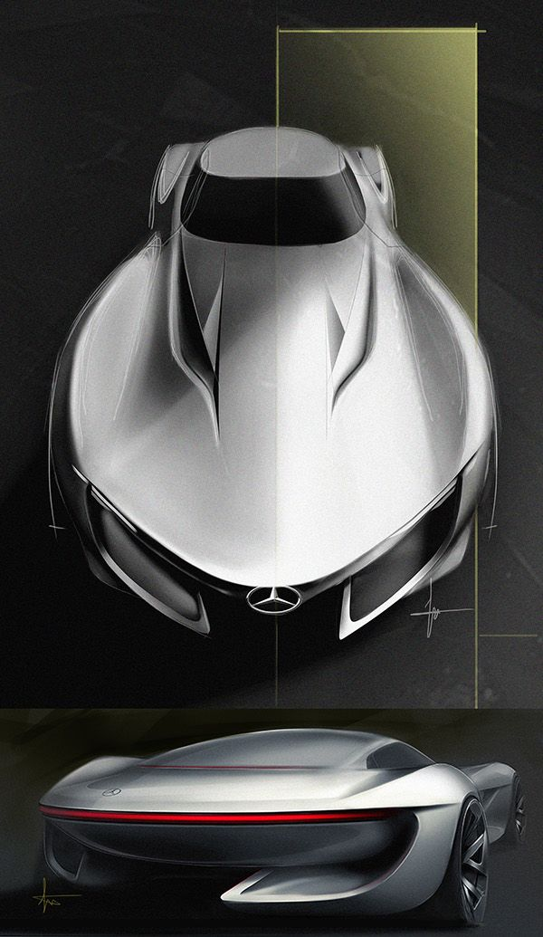 benz sl on Behance