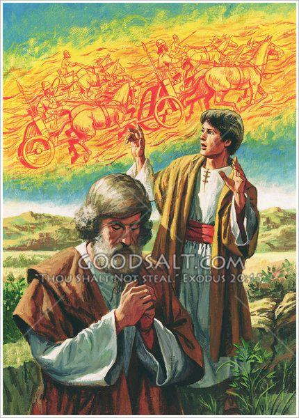 Eliseo y el ejército invisible   Bible illustrations, Male