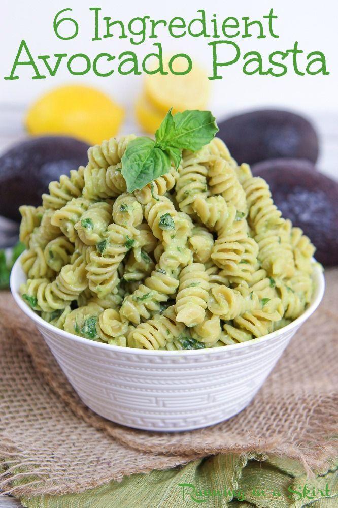 Vegan Avocado Pasta Only 6 Ingredients In 2020 Avocado Recipes Pasta Avocado Pasta Creamy Avocado Pasta
