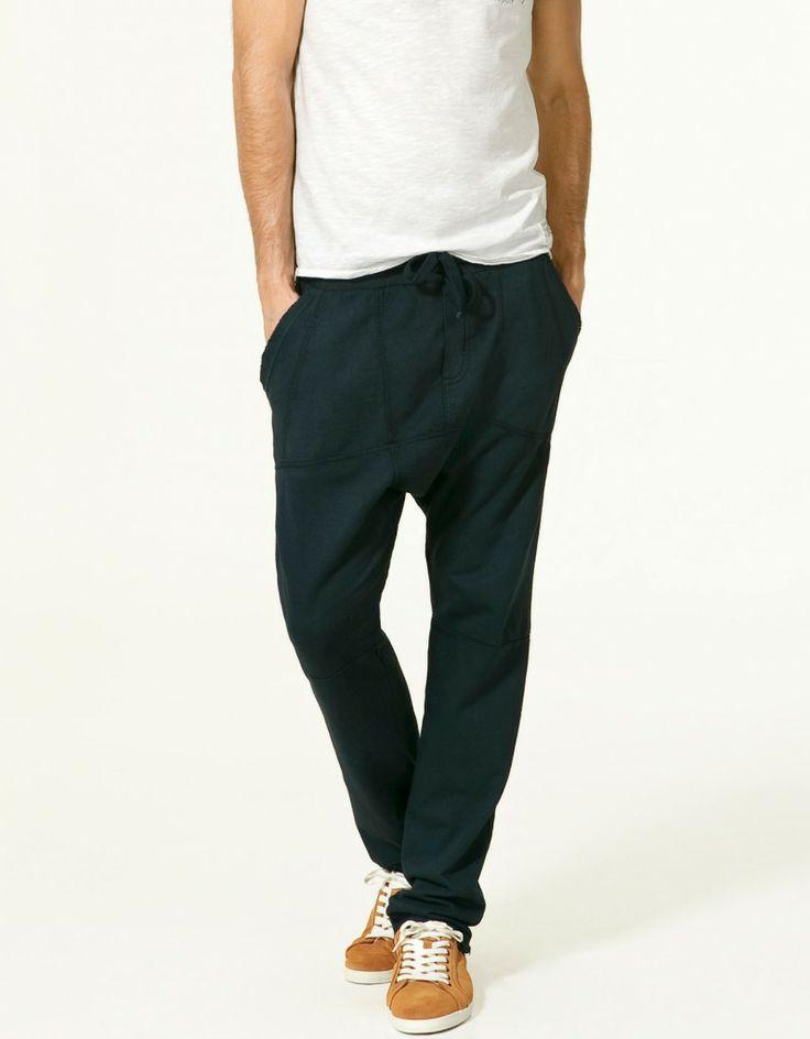 pantalones hombre zara negro