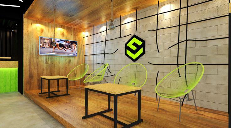 Propuesta de diseño interior para tienda de suplementos y articulos deportivos. Ubicación: Cd. Juárez, Chih. Diseño: Erick Morales | Taller 03