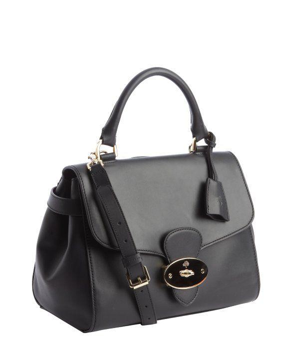 Mulberry black leather 'Primrose' convertible bag