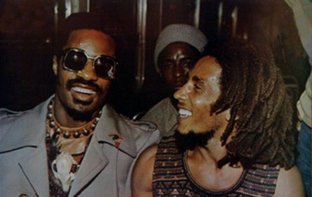 Bob Marley Stevie Wonder in Jamaica