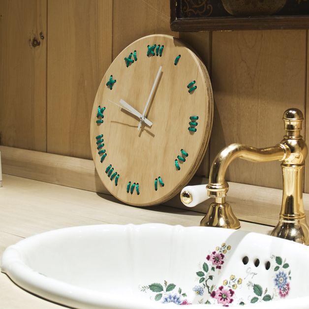 Orologi a muro - orologio da parete 0.1 Turchese - un prodotto unico di Metrocuadro-Design su DaWanda