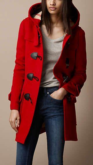 Duffle coat de lã