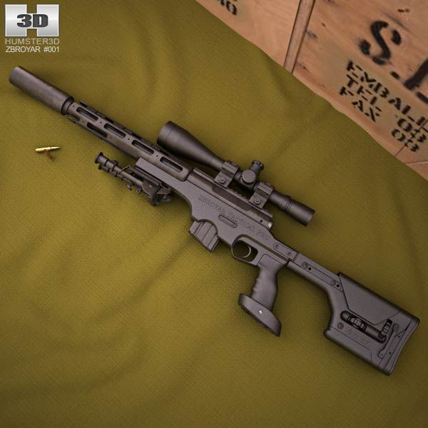 Zbroyar .458 SOCOM 3d model from humster3d.com. Price: $50
