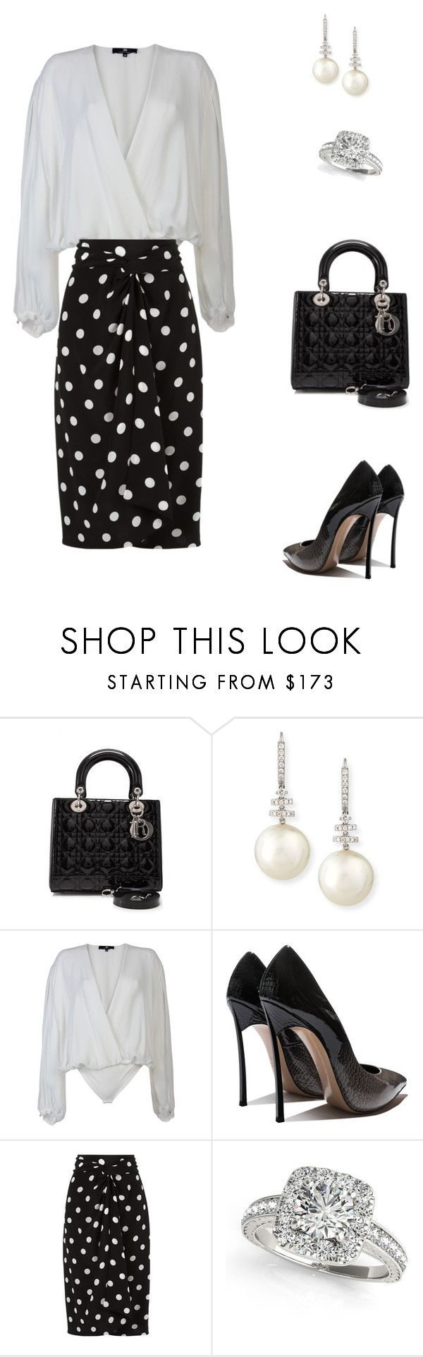 """Untitled #416"" by mitzi9 ❤ liked on Polyvore featuring Christian Dior, Belpearl, Elisabetta Franchi, Andrea Marques and Allurez"
