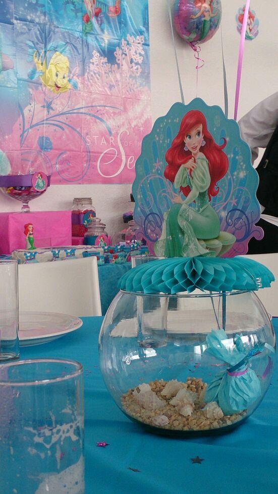 little mermaid centerpiece little mermaid birthday party pinterest. Black Bedroom Furniture Sets. Home Design Ideas