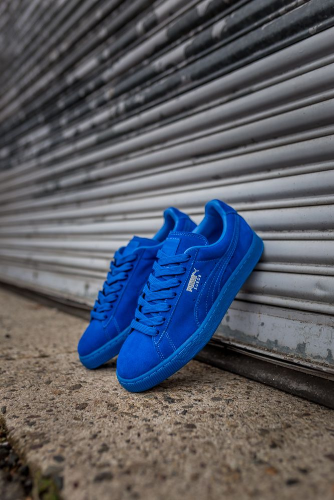 """These have got to be the freshest pair I've seen...Puma Suede Classic ICED """"Royal Blue"""" -"""