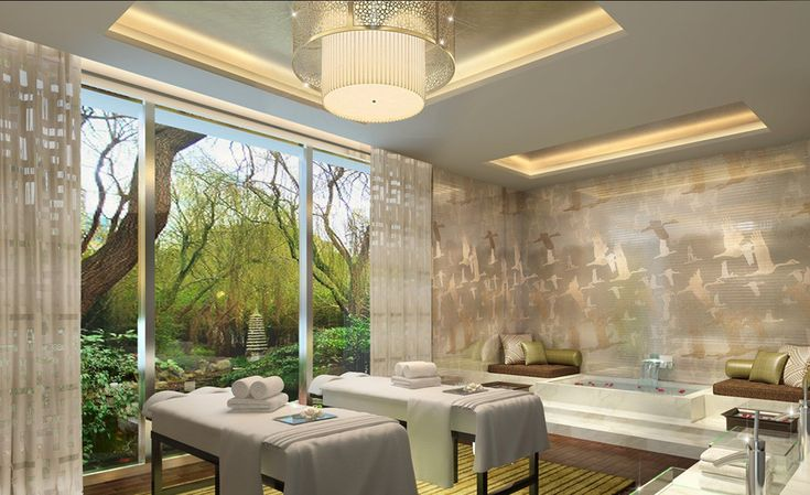 Simple Clean And Beautiful Massage Room Design Spa