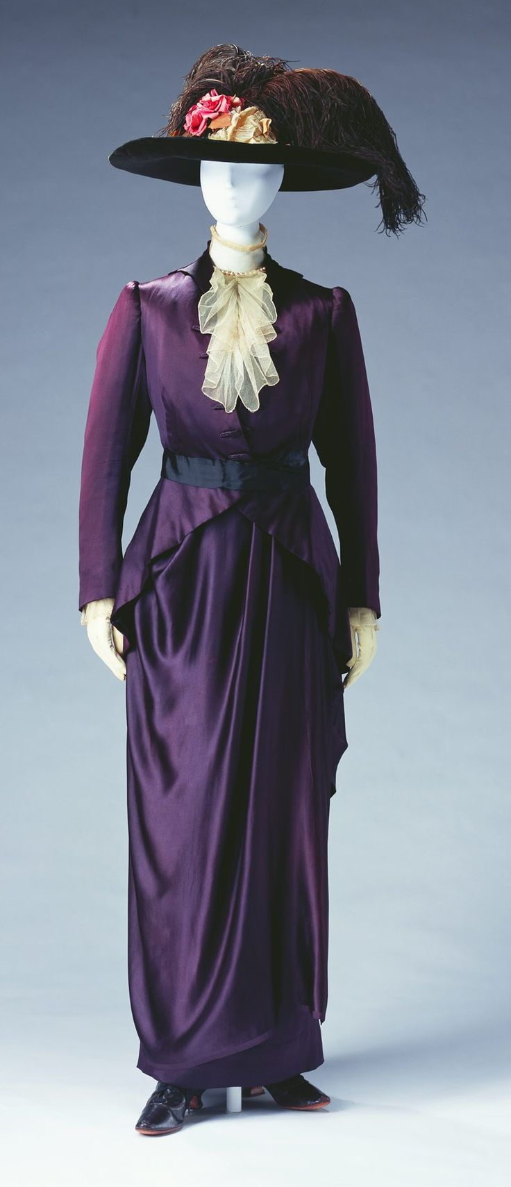 Day Dress, Pierre Bulloz, Paris, France: ca. 1910, silk satin bodice and skirt