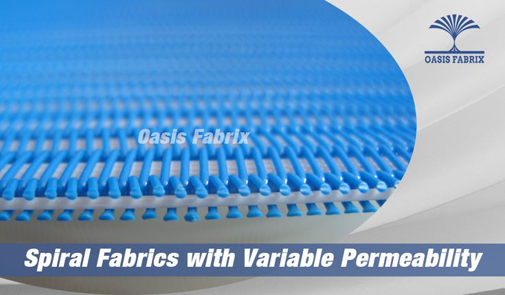 Spiral Fabrics with variable air permeability for belt press filter, pulp making, sludge de-watering...