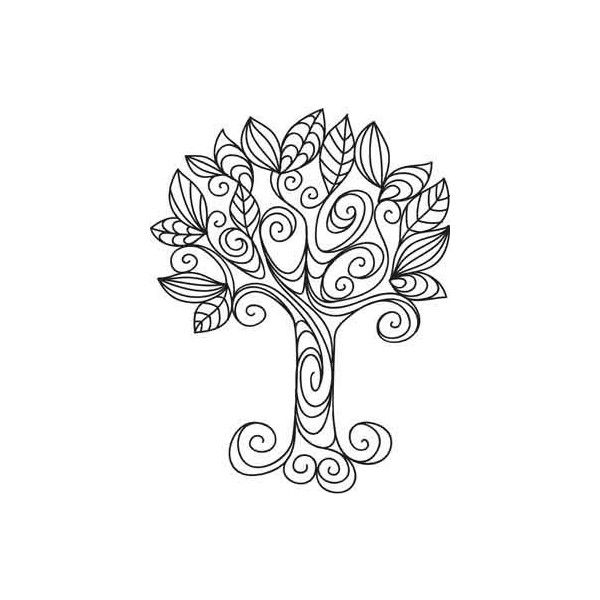 School / pretty doodle tree, tattoo, simple yet funky, found on Polyvore