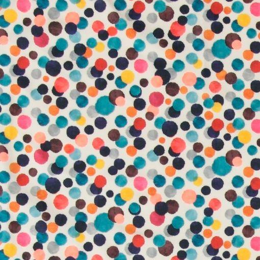 Woven cotton nature w multi dots