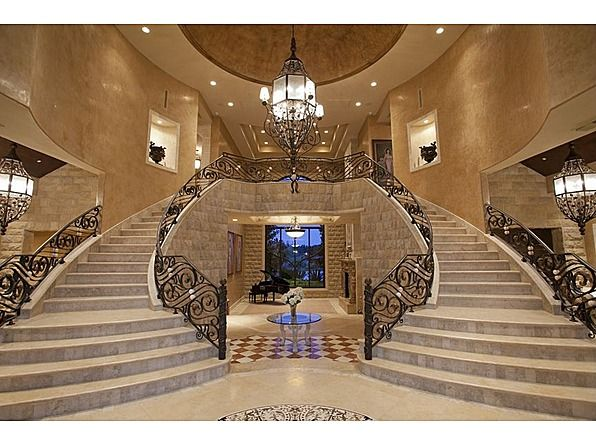 Vegas Mansion Double Staircase | Favorite Places U0026 Spaces | Pinterest |  Staircases, Mansion And House