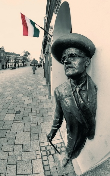 James Joyce Statue, Szombathely, Hungary