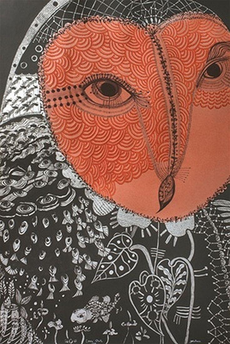 "carmelitalikes:    Joshua Yeldham: ""Love Owl - Morning Bay   source: arthousegallery.com.au  Thank You ymutate"