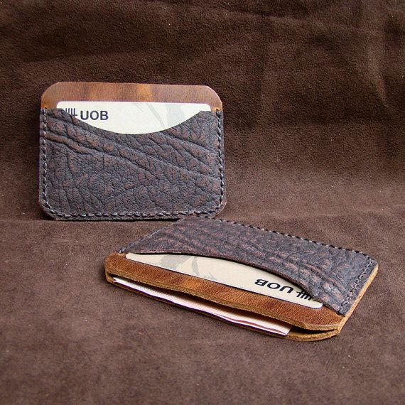 Leather Wallet DOUBLE Sleeve wallet men / by AccentHandicraft, $15.00