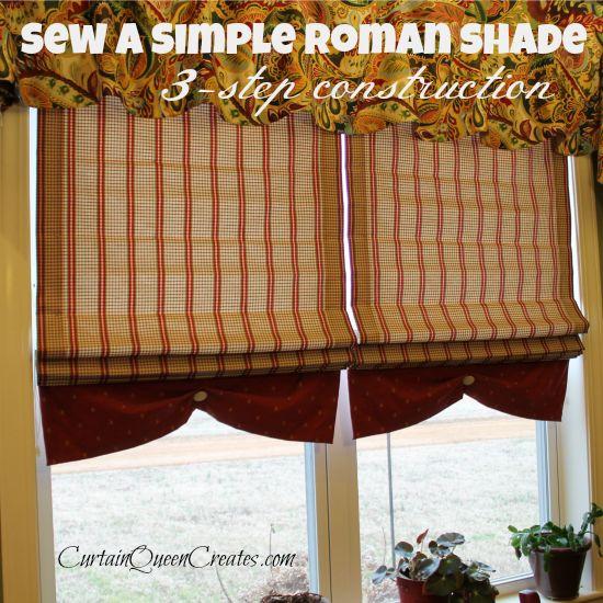 The Sew-Simple Roman Shade