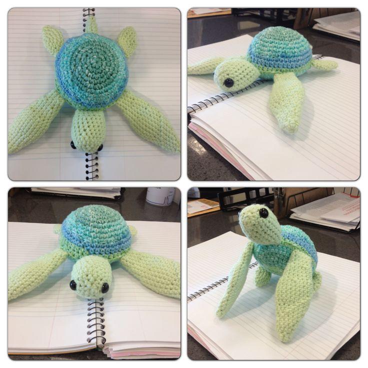 Free Crochet Pattern Newborn Turtle : Amigurumi sea turtle, crochet pattern 100% original. My ...
