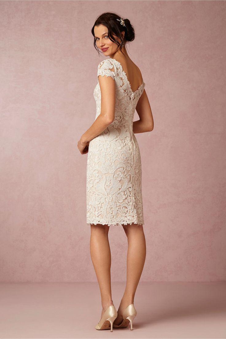 BHLDNs Tadashi Shoji Hadley Dress In Ivory Natural Bride Reception