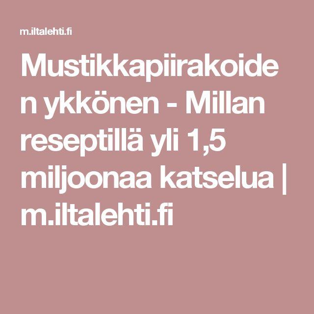 Mustikkapiirakoiden ykkönen - Millan reseptillä yli 1,5 miljoonaa katselua | m.iltalehti.fi