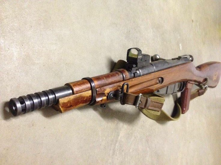 Mosin nagant I would never do this to a piece of history but since this guy did it's pretty cool