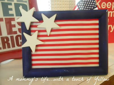 DIY Fourth of July Frame Flag: Summer Americana, Decor Ideas, Mommy Life With, American Decor, Easy Frames, July 4Th, Easy 4Th Of July Decor, Frames Flags, Americana Crafts