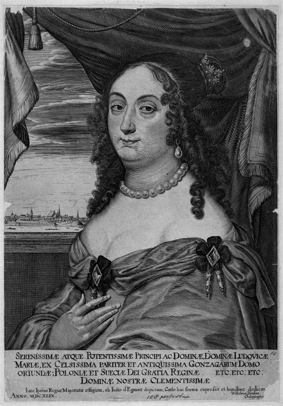 Hondius Marie Louise Gonzaga - Ludwika Maria Gonzaga